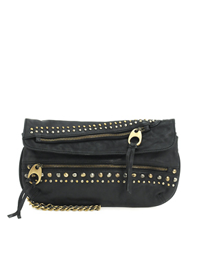 ASOS leather stud and zip clutch 439,- (asos.com)