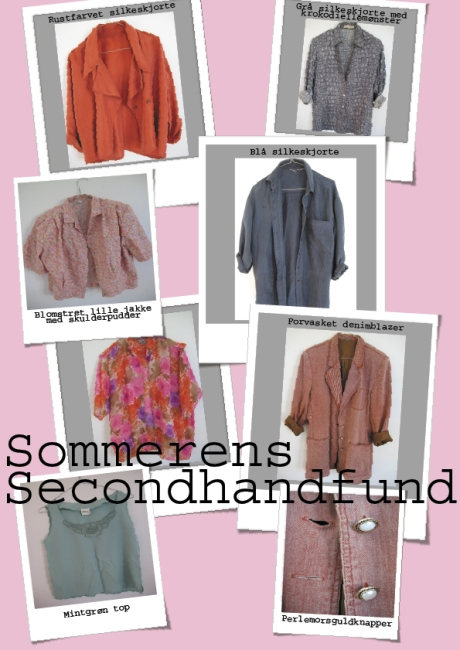 Sommerens secondhandfund collage