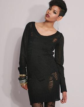 Asod ladder long sleeve dress 292,-