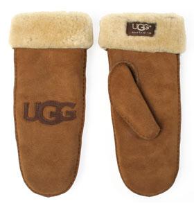 UGG logo patch mitten chesnut 80£ (office.co.uk)